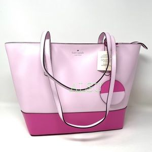 Kate ♠️ Spade Briel Large Tote Leather Pink